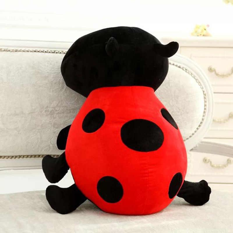 Çocuk günü hediyesi Coccinella Septempunctata peluş oyuncak bebek sevimli uğur böceği bebek göndermek çocuk