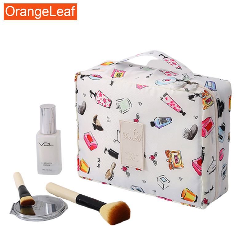 New Women Cosmetic Bag Nylon Toiletry Kit Organizer Waterproof Portable Makeup Bag Travel Necessity Beauty Case Wash Pouch