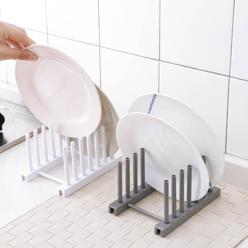 Plate Storage Rack Kitchen Organizer Product Plastic Bowl Stand Household Storage Appliances Shelf Kitchen Organizer