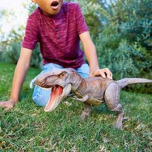 Image 4 - Oryginalny 56cm świat jurajski Bite walka Tyrannosaurus Rex duży konkurencyjny film Model dinozaura figurka zabawka dla dzieci