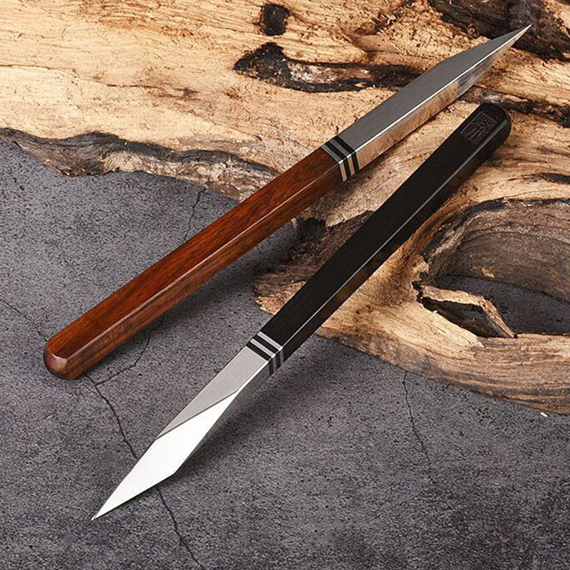 1Pcs tea knife Stainless steel Damascus pu erh tea by hand Wooden handle pry tea cone of Chinese Style Gift