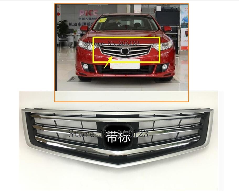 1 шт. для Honda Accord MK8 Spirior 2009-2012 71121-Tl2-A00, идеально подходит для передних грилей, гоночные грили с логотипом