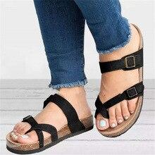 Лето женщины сандалии свободного покроя большой размер анти-скольжения дышащая кожа плоским платформа пляж обувь Sandalias 2020 Моды