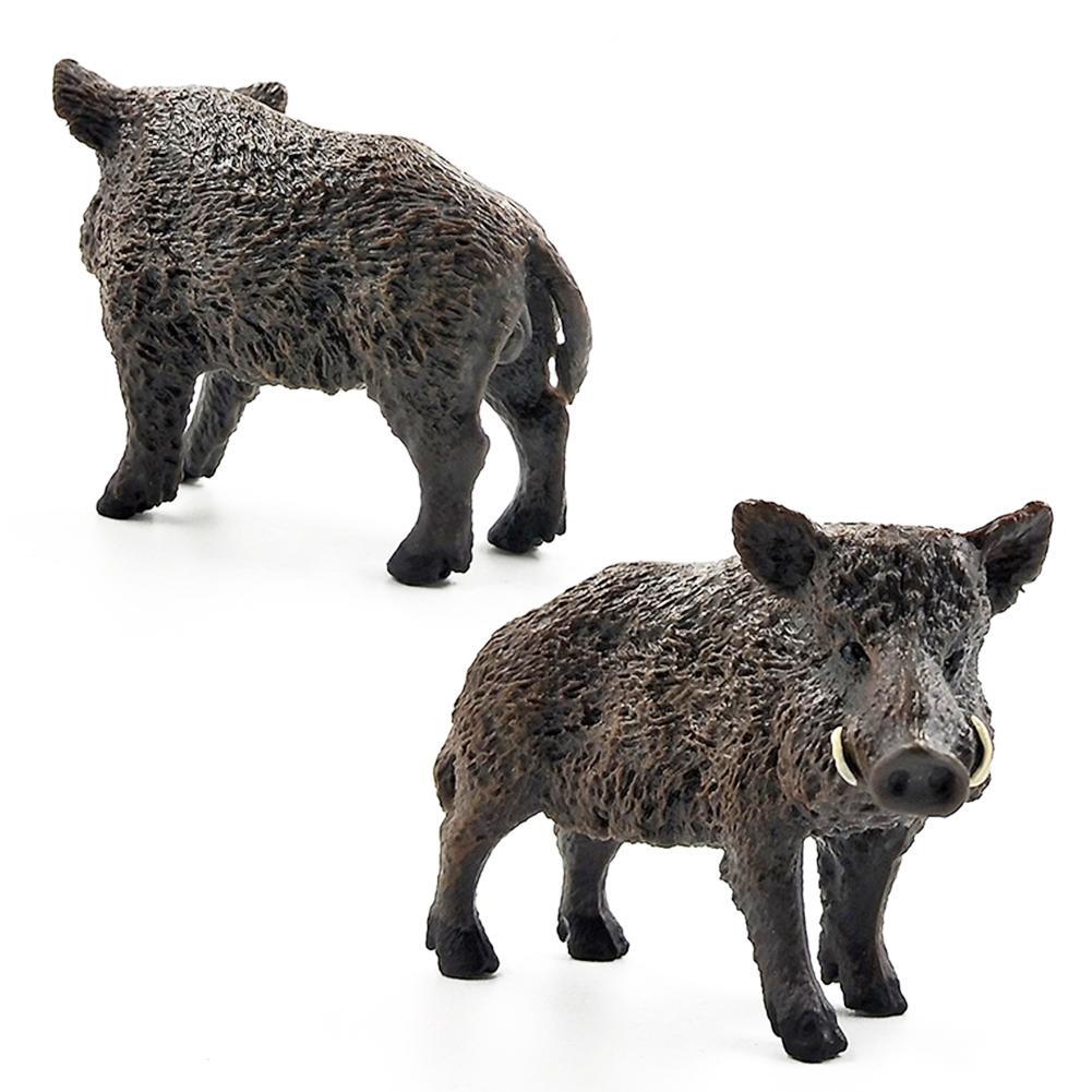 2.8inch Simulation Animal Toys Wild Life Wild Boar Figurine PVC Figures Wild Boar Model Action Figure Toys Figurine Dolls
