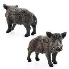 2.8inch Simulation Animal Toys Wild Life Wild Boar Figurine PVC Figures Wild Boar Model Action Figure Toys Figurine Dolls
