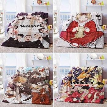 Anime Haikyuu!! Soft Warm Coral Fleece Plush Throw Blanket Bed Rug 100*150cm Flannel  Bedroom Sheet Cosplay Winter Blanket