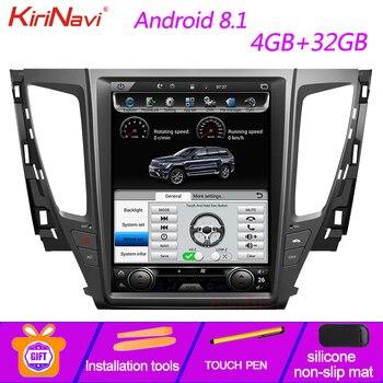 "KiriNavi de pantalla Vertical estilo Tesla 12,1 ""Multimedia para coche Mitsubishi Pajero Sport Montero Android 8,1 Radio de navegación GPS"