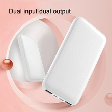 New Portable Ultra-thin Polymer 10000mAh Power Bank Poverbank Dual USB Ports External Battery Charger for