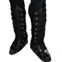 Средневековая мужская обувь с пряжкой; рыцарские Рыцари; высокие ботинки-бронежилет; Косплей