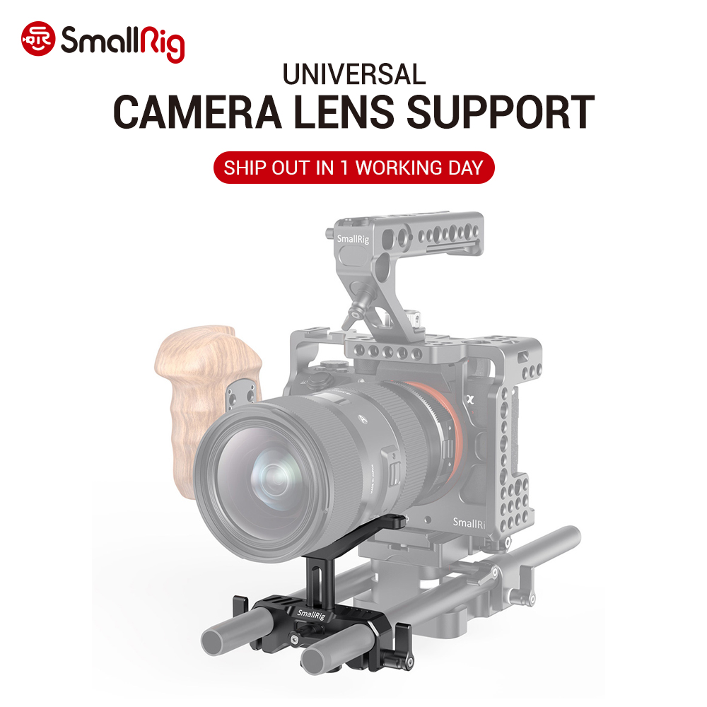 SmallRig 15mm LWS Universal Lens Support for Camera Long Lens Support Hight Adjustable DSLR Camera Rig Lens Adapter 2680