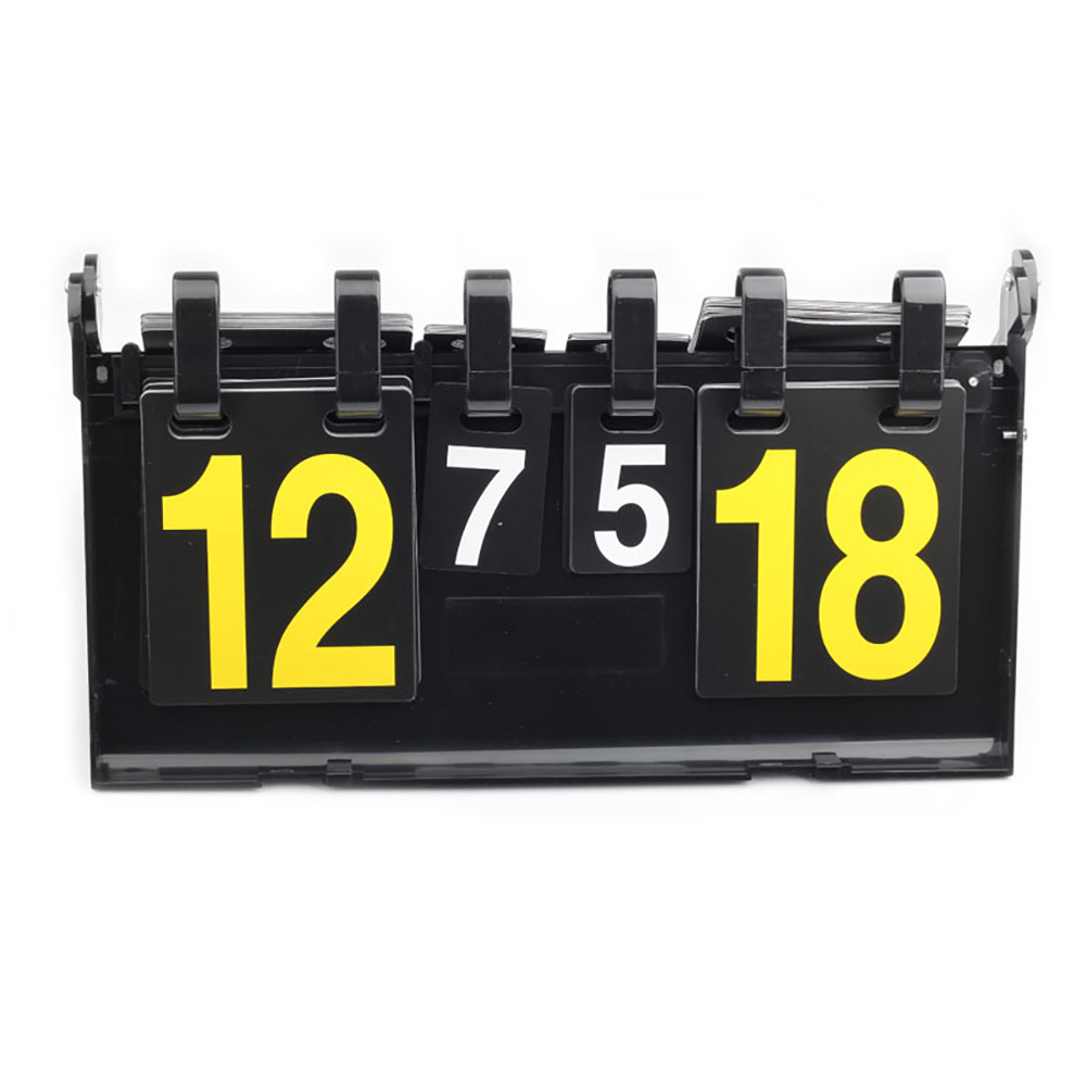 4 Digit Multi Football Competitions Volleyball Scoreboard Portable Badminton Counter Flipping Basketball Table Tennis Scoreboard
