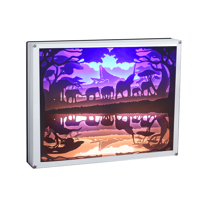 DIY Set Acrylic Light Box Blank Paper With Full Set Acrylic Shadow Box 3D Wall Art Shadow Box
