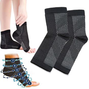 Wysokiej jakości oddychająca elastyczna orteza stawu skokowego kompresja wsparcie rękaw zapobieganie Sport kosz Fitness kostki straży zespół tanie i dobre opinie Other Produkt do pielęgnacji stóp Nieelektryczne Foot Sleeves Nylon 6 - 9 5 10 - 13 5 5 - 9 5 10 - 12 5