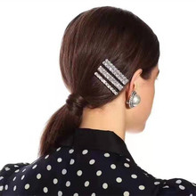 3Pcs/set Super Shiny Rhinestone Straight Hair Clips For Women Accessories Barrette Style Headclaws Hairpins Jewelry