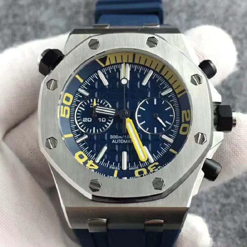 Watch Men Audemars Wristwatch AP Royal AAA Oak Off Shore Montr Quartz Watches Waterproof Stainless Steel Timing Rubber Strap
