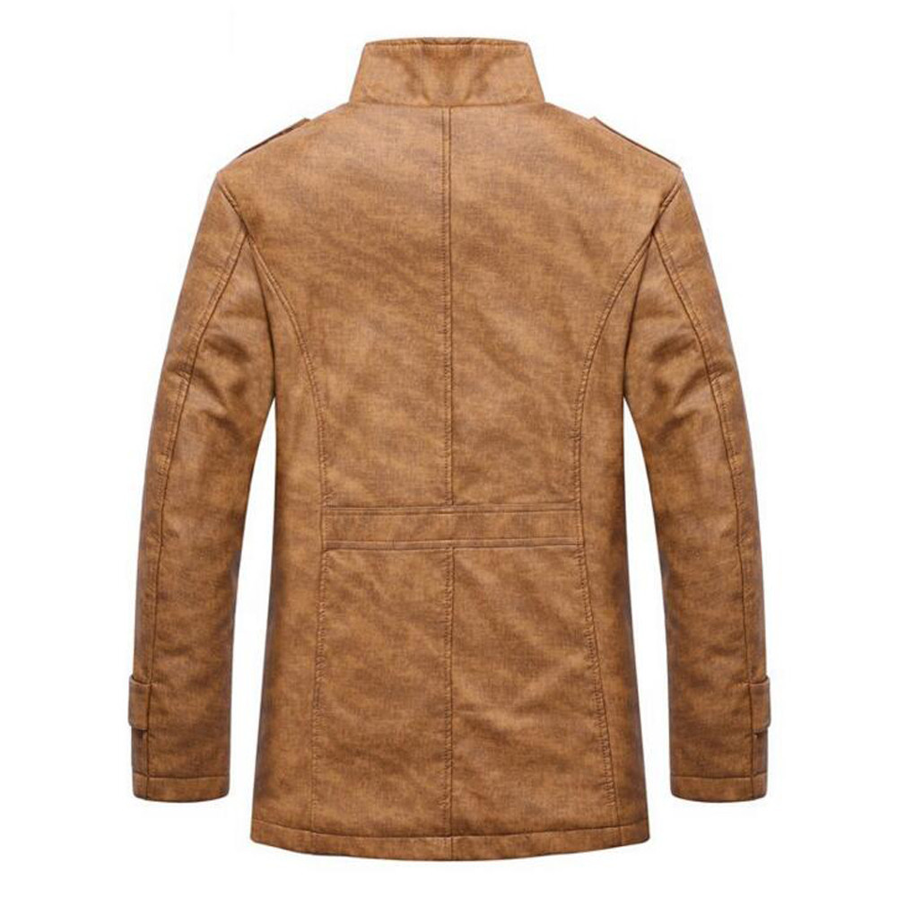 Had47b84ba4794e3bbf8bf938418b6fd74 Fashion Men's Leather Jacket Top Coat Warm Autumn Winter Casual Pocket Button Thermal Outwear Jumper For Male Men