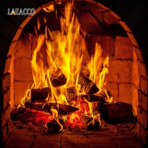 Image 5 - Laeacco Stone Wall Wooden Floor Fireplace Fire Wood  Photography Backgrounds Customized Photographic Backdrops For Photo Studio