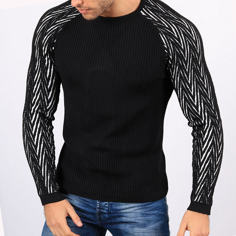 CYSINCOS 2019 Autumn Winter Men Sweater Fashion O-Neck Cotton Pullover Sweater Men Slim Fit Long Sleeve Knitted Mens Sweaters