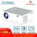 Touyinger M19 プロジェクターフル hd 1080 p 5800 ルーメンサポート AC3 led ビデオホームシアターフル hd ムービービーマーアンドロイドテレビボックスオプション