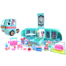 L.O.L SURPRISE ! LOL Surprise toys lol Dolls DIY 2-in-1 Bus Toy Lol Doll Play House Games Toys for LOL Surprise Birthday Gifts настольная игра lol 98234 lol
