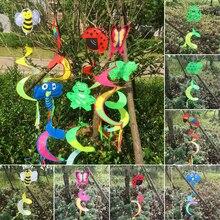 Горячие животные спираль ветряная мельница красочный ветер Спиннер газон сад двор Открытый Декор
