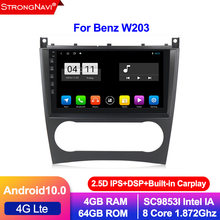 Android 10.0 4 + 64g ips dsp 2 din rádio do carro estéreo gps para mercedes/benz w203 w209 w219 a-class a160 c-class c180 c200 clk200(China)