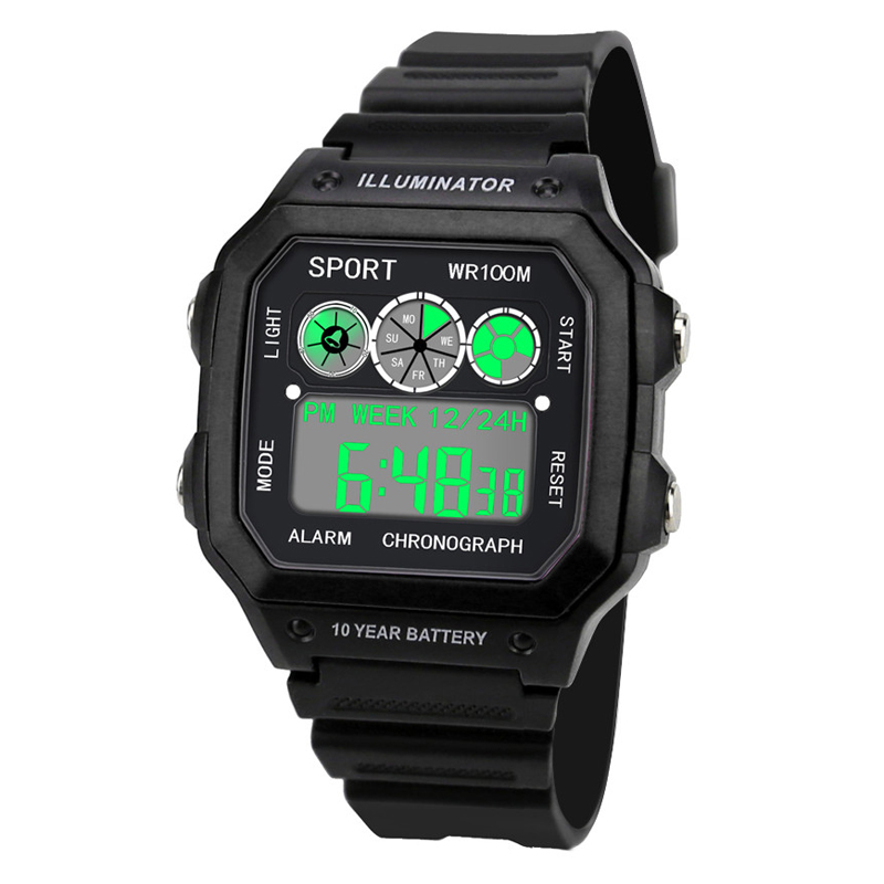 Men Sports Watches LED Digital Boys Military Army Electronic Relogio Masculino