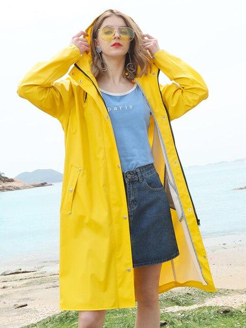 Long Body Rain Coat Women Yellow Raincoat Men's Waterproof Outdoor Rain Poncho Women's Pink Windbreaker Jacket Hiking Gift Ideas 1