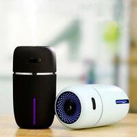 200ML ultradźwiękowy nawilżacz powietrza romantyczne światełko nocne USB dyfuzor olejków eterycznych oczyszczacz samochodowy nawilżacz powietrza z mgiełką i dozownikiem aromatu dla domu w Nawilżacze powietrza od AGD na