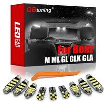 GBtuning Canbus LED para Mercedes Benz M ML GL GLK GLA GLC clase W163 W164 W166 X164 X166 X204 X156 X253 bombilla de coche luz Interior