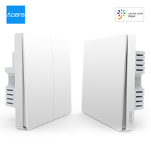 Aqara Wall Switch Intelligent Home Switching Remote Control Home Kit Mi Home App(Single Firewire One/ Double Key Version)