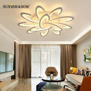 Image 1 - Beyaz led tavan ışık Modern ev avize tavan lambası oturma odası yatak odası için yemek odası LED parlaklık tavan Led armatür