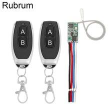 Rubrum 433 315mhz のワイヤレスリモートコントロールスイッチ 5 v led 受信機モジュール + トランスミッターリモコン rf スイッチライトコントローラ
