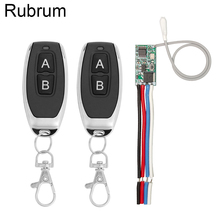 Rubrum 433 MHz Wireless Remote Control Switch 5V LED Receiver Module + Transmitter Remote Control RF Switch for Light Controller