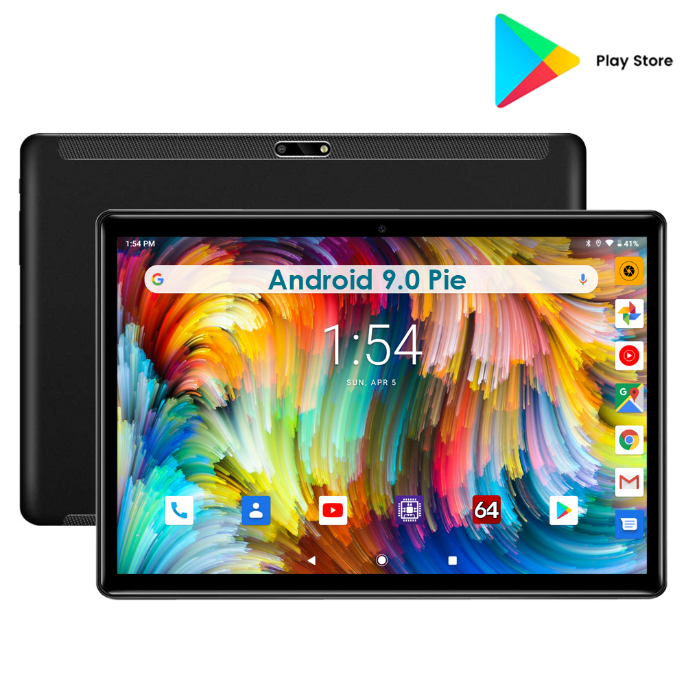 Super 32GB EMMC Gaming Tablet Quad Core 10 Inch 5MP 1280x800 Full Screen Dual 2.5D Glass WIFI 3G Phone Call Android 9.0 OS Pad