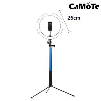 TikTok 10inch 5600K LED Ring 10inch Light Lamp Dimmable Photography Studio Phone Video With 150CM Tripod Selfie Stick&USB Plug