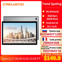 Teclast P20HD 4G Anruf 4GB RAM 64 ROM Tablet PC 1920x1200 Android 10 Octa Core 10,1 zoll IPS SC9863A GPS 6000mAh Tabletten