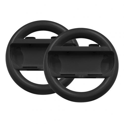 Переключатель Игровой руль ручка для переключателя Joy-Cons Противоскользящий контроллер направления с высоким качеством реалистичный опыт - Цвет: Черный