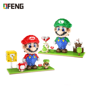 Image 1 - HC sihirli 1030 elmas Mini karakter Anime aksiyon figürleri üniversite yapı taşları çocuk hediyeler oyuncak doğum günü montaj tuğla