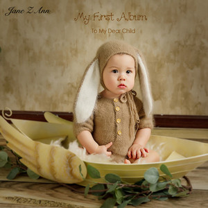 Image 5 - Jane Z Ann 3 6 month baby photo costume  infant handmade knitted bear bunny clothes Oil painting series theme studio accessories