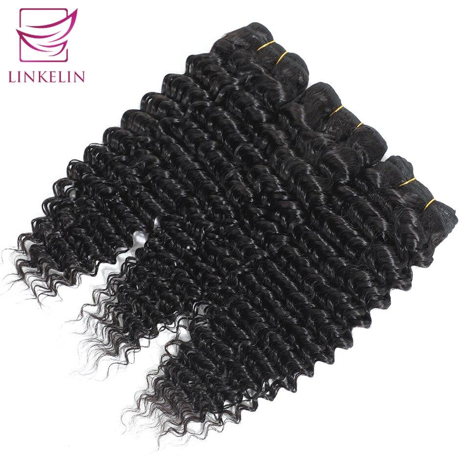 Peruvian Deep Wave Human Hair Bundles Natural Color Free Shipping 1/3/4 Bundles Hair Extension LINKELIN HAIR Weave