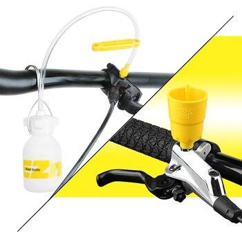 Bike Hydraulische Scheiben Bremse Bleed Werkzeug Entlüftungs Kit MTB Rennrad Brems Blutungen Kit Bike Mineral Öl Flüssigkeit Metall Adapter