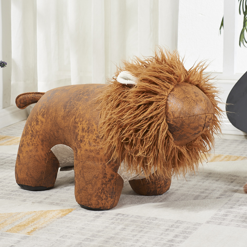 Creative Children's Sofa Stool Animal Seat Cartoon Sitting Stool Lion Change Shoes Stool Home Decoration Gift