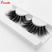 25mm 3D  mink lashes natural long fluffy thick volume individual false eyelashes wholesale makeup dramatic eyelashes MG06 цены онлайн
