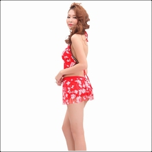 Sexy Nightclub Cami Crop Top Mini Skirt 2 Piece Sets Backless Women Halter Red Exotic Aprons Sets Summer Bra Dance Clubwear Suit sexy halter solid color crop top and slit skirt women s suit