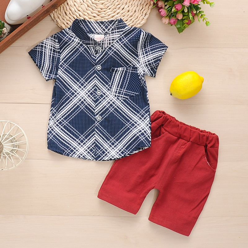 1-4Y Baby Toddler Boy Summer Outfits Set Sleeveless Hoodie Strip Top Vest Shorts