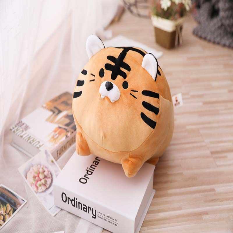 1 adet 35-45cm Kawaii kaplan Zebra peluş yumuşak yastık sevimli doldurulmuş hayvan oyuncaklar bebek çocuk kız sevgililer doğum günü hediyesi noel mevcut