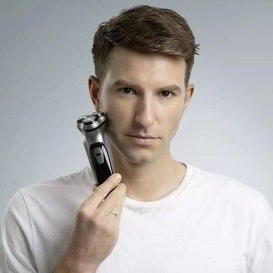 Image 3 - Xiaomi Mijia 電気シェーバーかみそりシェービングマシンメンズ電気シェーバー 3 ヘッドシェーバーひげトリマー男性 Enchen ブラックストーン