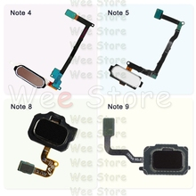 Original For Samsung Galaxy Note 4 5 8 9 N910F N920F N950F N960F Back Home Button Fingerprint Sensor