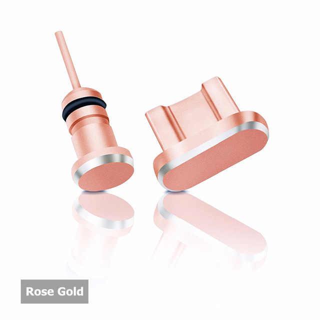 Yeni varış 2 adet/takım Metal şarj portu + kulaklık portu toz fiş için yedek Android cep telefonu 3.5mm kulaklık stoper